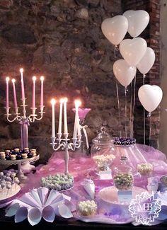 tavolo confettata lilla