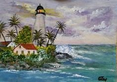 aceo original acrylic on canvas paper us artistlighthouse and seascape - Categoria: Avisos Clasificados Gratis  Item Condition: not specifiedAceo painted in acrylic paint on Canson canvas paper, measures 2 12 inches by 3 12 inches Painting is a seascape with a lighthouse It will be shipped in a protective sleeve in an envelope Colors may vary on different computer monitors Sealed with matte varnishPrice: See Details