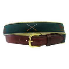 """The Essentials"" Ribbon Belt - Hunter Green"