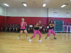 "This song is ""I Like It"" by Enrique Iglesias & Pittbull.  This routine is meant to be taught in a Group Exercise class."