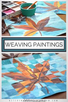 Weaving paper is an elementary skill that is important but is no joke to teach. Take that simple skill to the next level with this concept of weaving together two similar paintings. Paper weaving is…More Classe D'art, Fall Art Projects, Simple Art Projects, Craft Projects, 6th Grade Art, Paper Weaving, Art Lessons Elementary, Elementary Schools, Weaving Projects