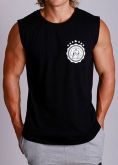 fcdc155388b04 MACRI GRIND TO GREATNESS - Men's Gym Apparel MUSCLE TOP Tanks - BLACK Gym  Singlets,