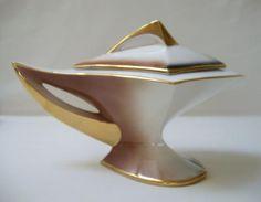 Other Porcelain & Ceramics - RETRO ITALO CASINI 21pc MULTI-COLOURED ITALIAN 'ALADDIN GENIE LAMP' TEA SET c1950's for sale in Memel (ID:191973756)