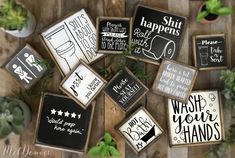 Rustic farmhouse style signs, now in two sizes! Funny bathroom signs, wash your hands, kids bathroom guest bathroom signs humorous bathrooms Rustic farmhouse style signs now in two sizes Funny bathroom Bathroom Humor, Bathroom Signs, Rustic Farmhouse, Farmhouse Style, Home Coffee Stations, Youre My Person, Thankful And Blessed, Wash Brush, Rustic Bathrooms