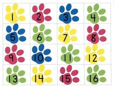 Dogs and Paws Numeral Center by NJF | Teachers Pay Teachers Ordering Numbers, Kindergarten Readiness, Printed Pages, Math Centers, Literacy, Kids Rugs, Things To Sell, Dogs, Color