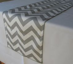 Hey, I found this really awesome Etsy listing at https://www.etsy.com/listing/125181379/gray-and-white-chevron-table-runner