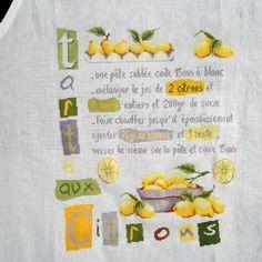 La tarte aux citrons grille de point de croix