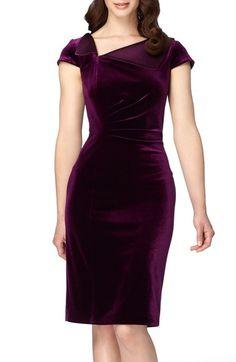 Tahari Velvet Sheath Dress available at #Nordstrom