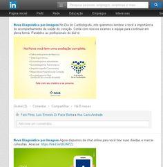 Utilização do LinkedIn para o conteúdo digital da Nova Diagnóstico por Imagem.