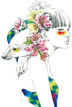 Японский иллюстратор Aki Miyajima