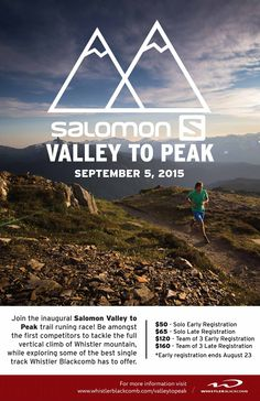Are you up for the challenge?#MyHealthMission  Salomon Valley to Peak Race  For more Health in Mission BC, check out piterest.com/missiondivision or divisionsbc.ca/mission