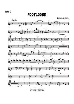 grade 2 alto saxaphone jazz sheet music | Footloose - Alto Sax 2 Sheet Music Preview Page 1