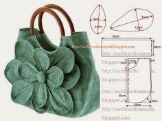 Saco de modelação e costura fácil. Escolha um tecido encorpado e com um estampado lindo para que o resultado final seja excelente e do seu agrado. Depois d