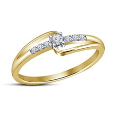 14Karat Yellow Gp 925 Sterling Silver Round Cut Sim.Diamond Promise Fashion Ring #aonedesigns #PromiseRing