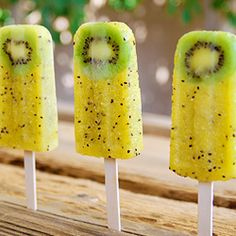 Pineapple Popsicles by theslowroasteditalian #Popsicle #Kiwi #Pineapple