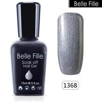 BELLE FELLE 15ml Shining UV Gel Polish nail gel lacquer Cosmetics Makeup permanent gel Manicure Easy DIY Nail art tool varnish