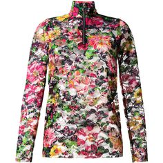 Marques'almeida floral print lace top (24.860 RUB) via Polyvore featuring tops и pink