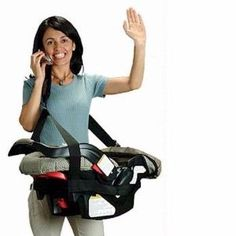 Cool Gadget To Carry A Car Seat But Do Need To Have Strong Back As The
