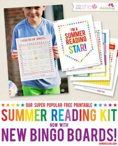 Summer Reading Star Kit - Now with NEW BINGO CARDS!