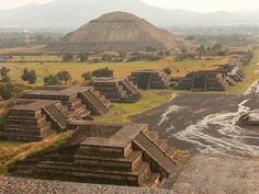 The Pyramids of Teotihuacán (Mexico). 'Once among Mesoamerica's greatest cities, Teotihuacán, just an hour out of Mexico City, is a popular day trip from the capital. The awesomely massive Pirámide del Sol (Pyramid of the Sun) and Pirámide de la Luna (Pyramid of the Moon) dominate the remains of the metropolis.' http://www.lonelyplanet.com/mexico/north-of-mexico-city/teotihuacan
