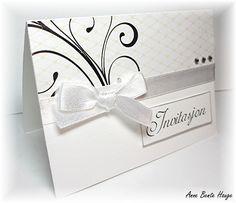 Skal du gifte deg i år, eller lage invitasjoner til noen som skal gifte seg? Jeg har laget et forslag til bryllupsinvitasjon og bordkor...
