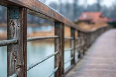 Wooden bridge Photos Old danube vienna by ChristianThür Photography Default Setting, Business Illustration, House Roof, Architecture Photo, Vector Graphics, Dream Big, Photo Art, Bridge, Pictures