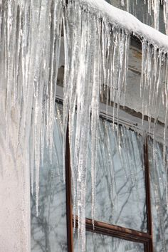 Icicles Hanging from Roof - Public Domain Photos, Free Images for Commercial Use Beautiful Winter Pictures, Hearth And Home, Winter House, Public Domain, Ladder Decor, Cozy, Free Images, Commercial, Home Decor