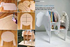 Baa Baa Sheep Shelf DIY F  Wonderful DIY Smart Sheep Bookshelf For Kids