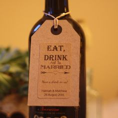 eat drink be married stickers for wine bottles