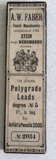 AW Faber Polygrade Leads Artists Pencils 2000