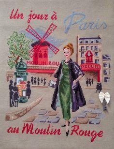 Un jour a Paris au Moulin Rouge / Одень день в Париже в Мулен Руж | J'aime la broderie française