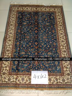 hand knotted carpet,silk,4x6ft