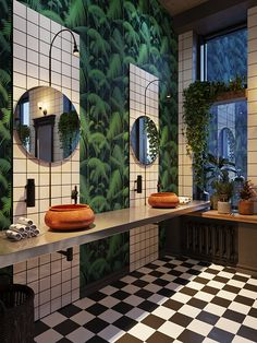 Restaurant Bathroom is Outstanding, Wouldn't You Agree? -This Restaurant Bathroom is Outstanding, Wouldn't You Agree? - Spectacular bathroom design from Architects Semen Vishnyakov and Alexandra Borisova for Behance