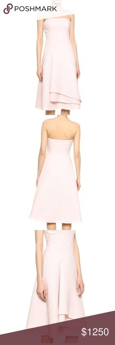 FLASH SALE Jason Wu Resort 2015 Flounce dress Amazing, gorgeous, perfect for wedding season! Color is petal, like a pale pink. Brand new with tags. True to size. Jason Wu Dresses Strapless