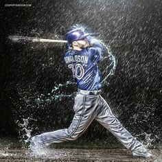 Josh Donaldson, Toronto Blue Jays - The bringer of rain! Braves Baseball, Baseball Boys, Baseball Players, Baseball Games, Softball, Baseball Toronto, Mlb, Josh Donaldson, Toronto Blue Jays