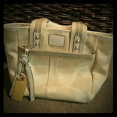 Coach handbag Great starter Coach! Authentic. I have had it for a few years. It is a used bag but just needs a good cleaning. Don't use it much so just wanna get it out of the closet. Welcome to offers! Coach Bags