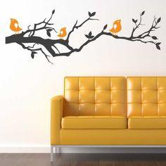 Cute Birdies Vinyl Wall Art