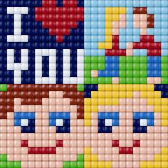 Love pattern - Pixelhobby / Pixelgift
