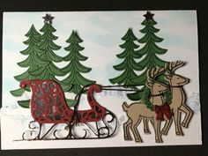 Loved using SU Santa's Sleigh stamp and think it's bundle! So many possibilities with this gem.