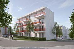 Wohnquartier 'Carlsgarten' - Haus D, Bad Kreuznach   Raumlabor3 - Architekturvisualisierung aus Karlsruhe