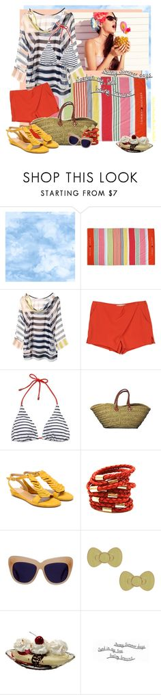 """""""Sunny summer days"""" by notjustanotherbrickinthewall ❤ liked on Polyvore featuring Majestic, Benjamin Moore, Bershka, Tommy Hilfiger, Diane Von Furstenberg, Vanessa Bruno, American Eagle Outfitters, Coclico, Rebecca Minkoff and House of Harlow 1960"""