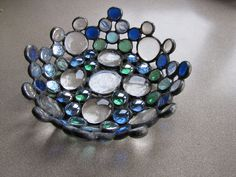 Stained Glass Bowl made from Recycled Glass. LOVE