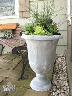 How to Create a Faux Zinc Finish With Paint  http://www.hometalk.com/l/00f
