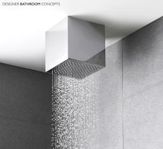 Talent Designer Square Ceiling Mounted Shower Head -  http://www.designerbathroomconcepts.com/showering/shower-accessories/fixed-shower-heads/art-designer-square-ceiling-mounted-head.html