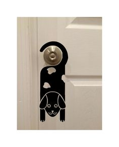 Spotted Dog Hanging Out on Door Knob 4 x 12 by DecalPhanatics Kids Room Art, Art Wall Kids, Home Decor Wall Art, Door Knobs, Door Handles, Spotted Dog, Store Windows, Hanging Out, Dogs And Puppies
