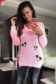 Różowy sweterek - KLIK W FOTO