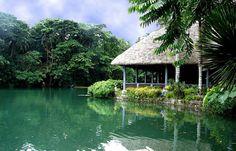 Waterfalls restaurant, Villa Escudero Villa Escudero is a coconut plantation village in San Pablo City, Laguna Philippines