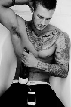 Hot Sexy Guy With Chest Full Of Tattoos. Sorry/not Sorry For Pinning So Many Hot Guys<3