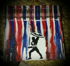 Captain America Crayon Art