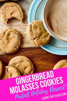Looking for the perfect holiday cookie that is super easy to make? These gingerbread cookies pack a spicy gingerbread flavor with a delicious sweetness from the brown sugar and molasses. You won't be able to stop eating them!